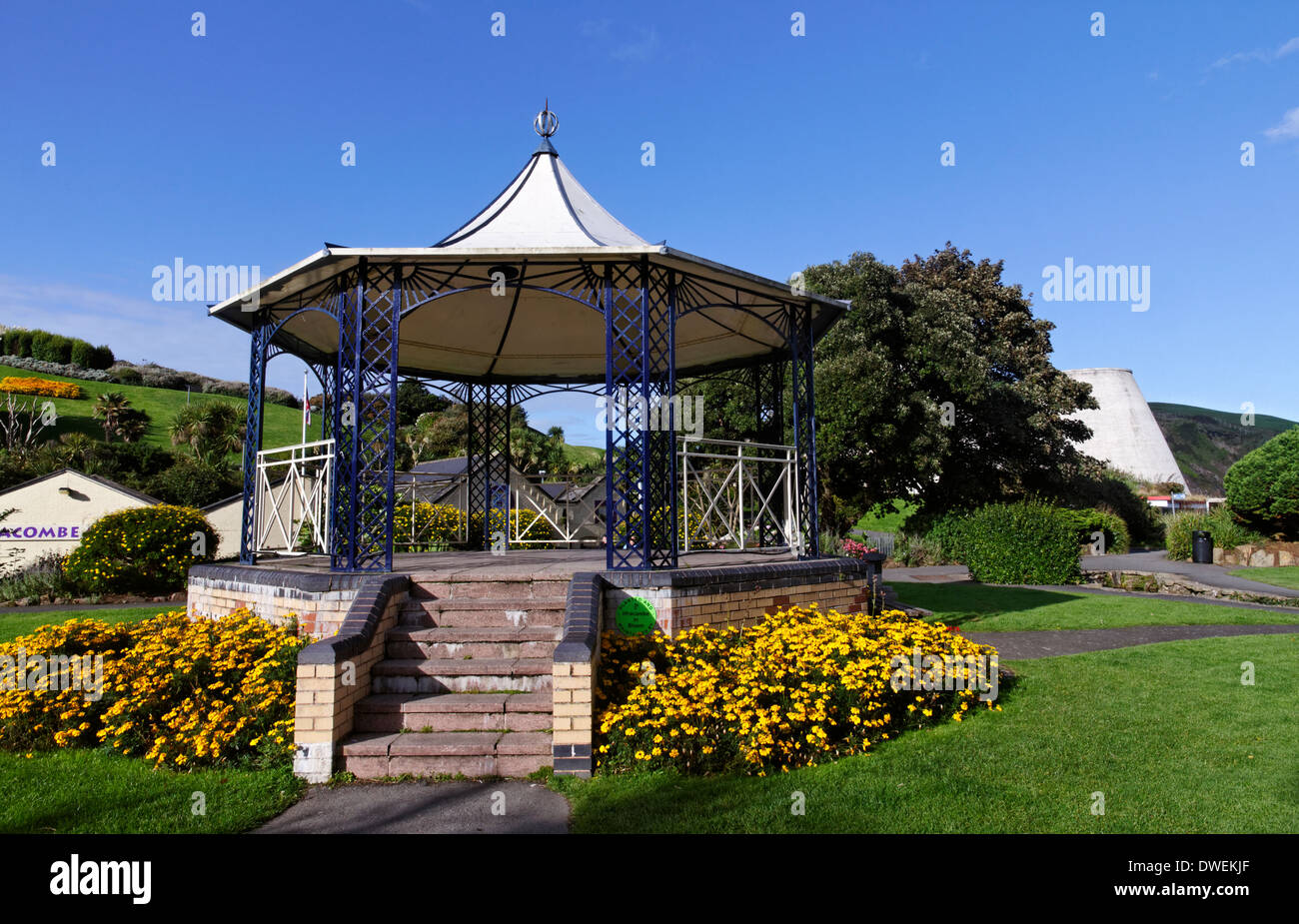 The bandstand at Ilfracombe, Devon, England - Stock Image