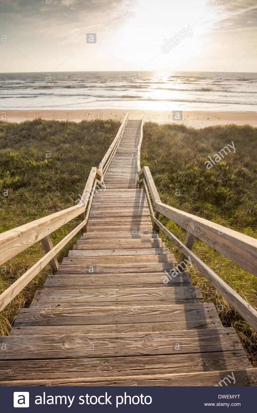 Sunrise, Guana Tolomato Matanzas National Estuarine Research Reserve, Ponte Vedra Beach,  Florida - Stock Image