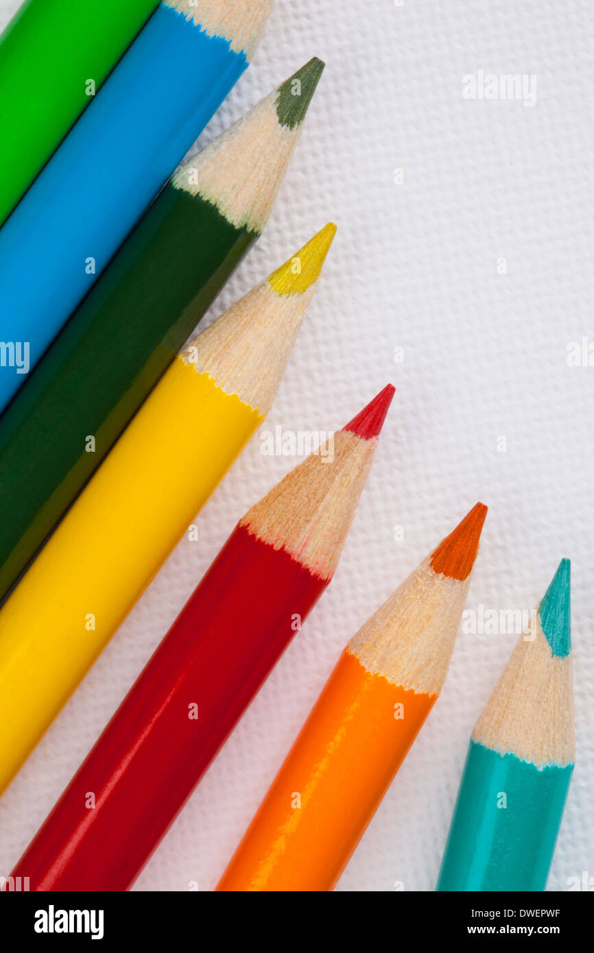 Arts & Crafts - Colored Pencils - Stock Image