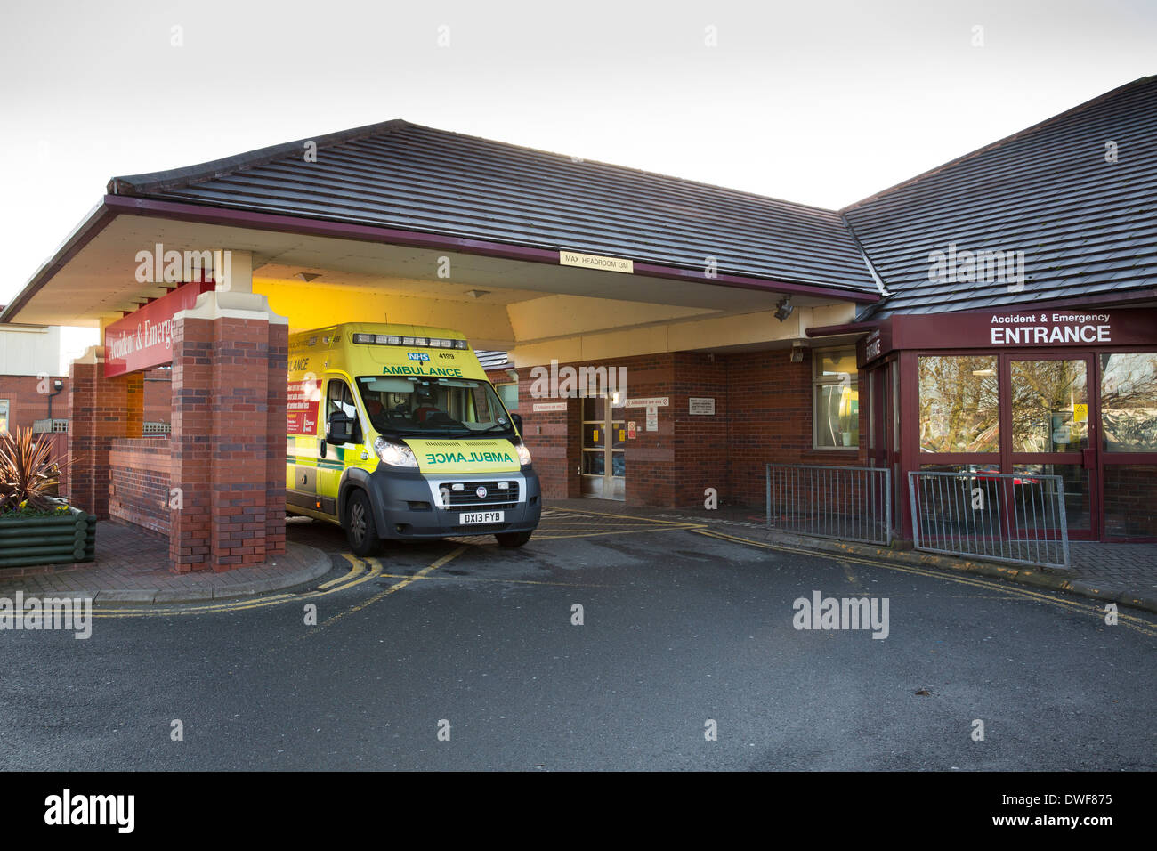 Heartlands Hospital, Birmingham. Pictured, the Accident and Emergency entrance to the hospital. - Stock Image