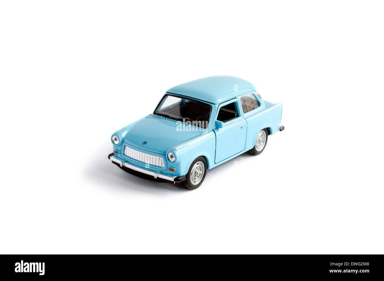 Trabant model car isolated on white - Stock Image