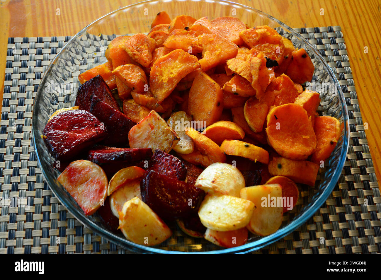 Root Vegetable, Baked - Stock Image