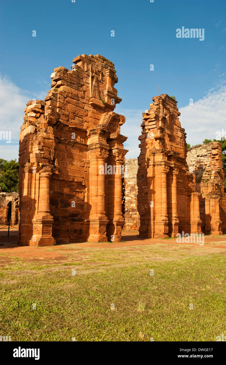 Ruins of Jesuit reduction, San Ignacio Mini - Stock Image