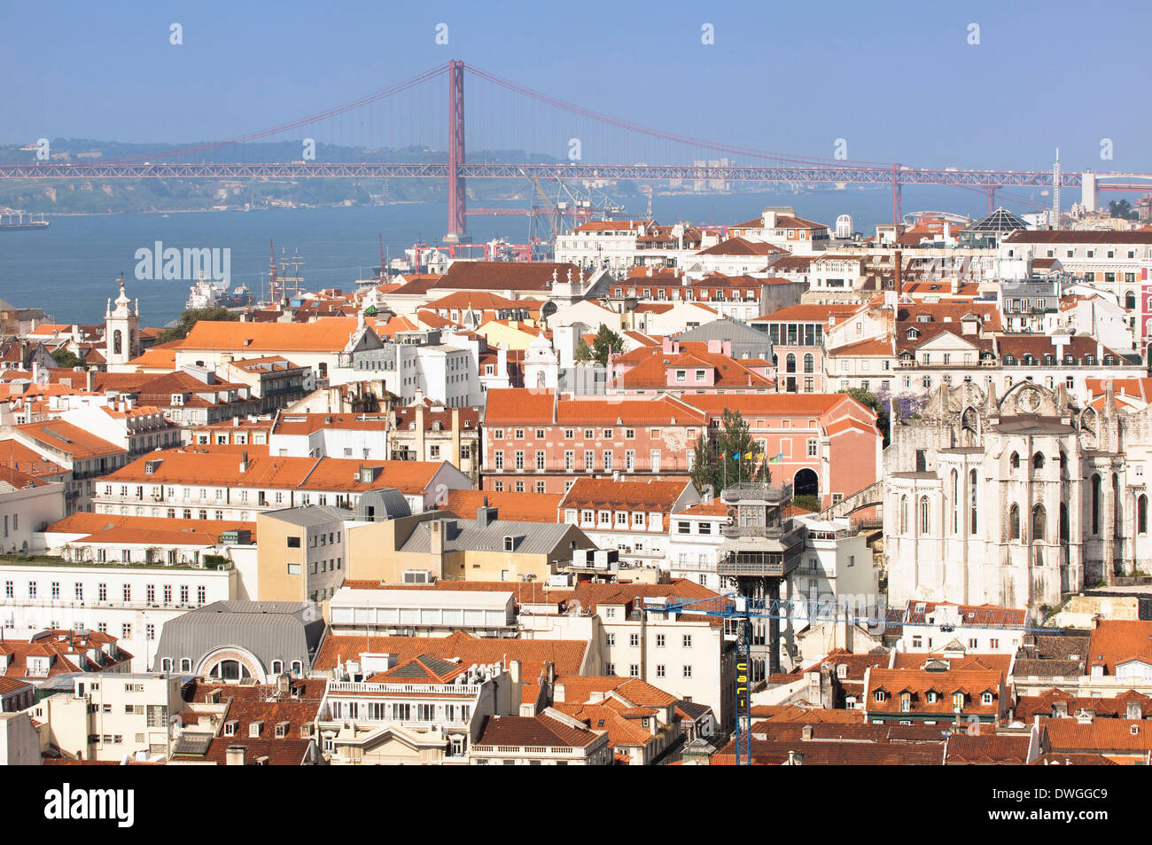 Ponte 25 de Abril bridge, Lisbon Stock Photo