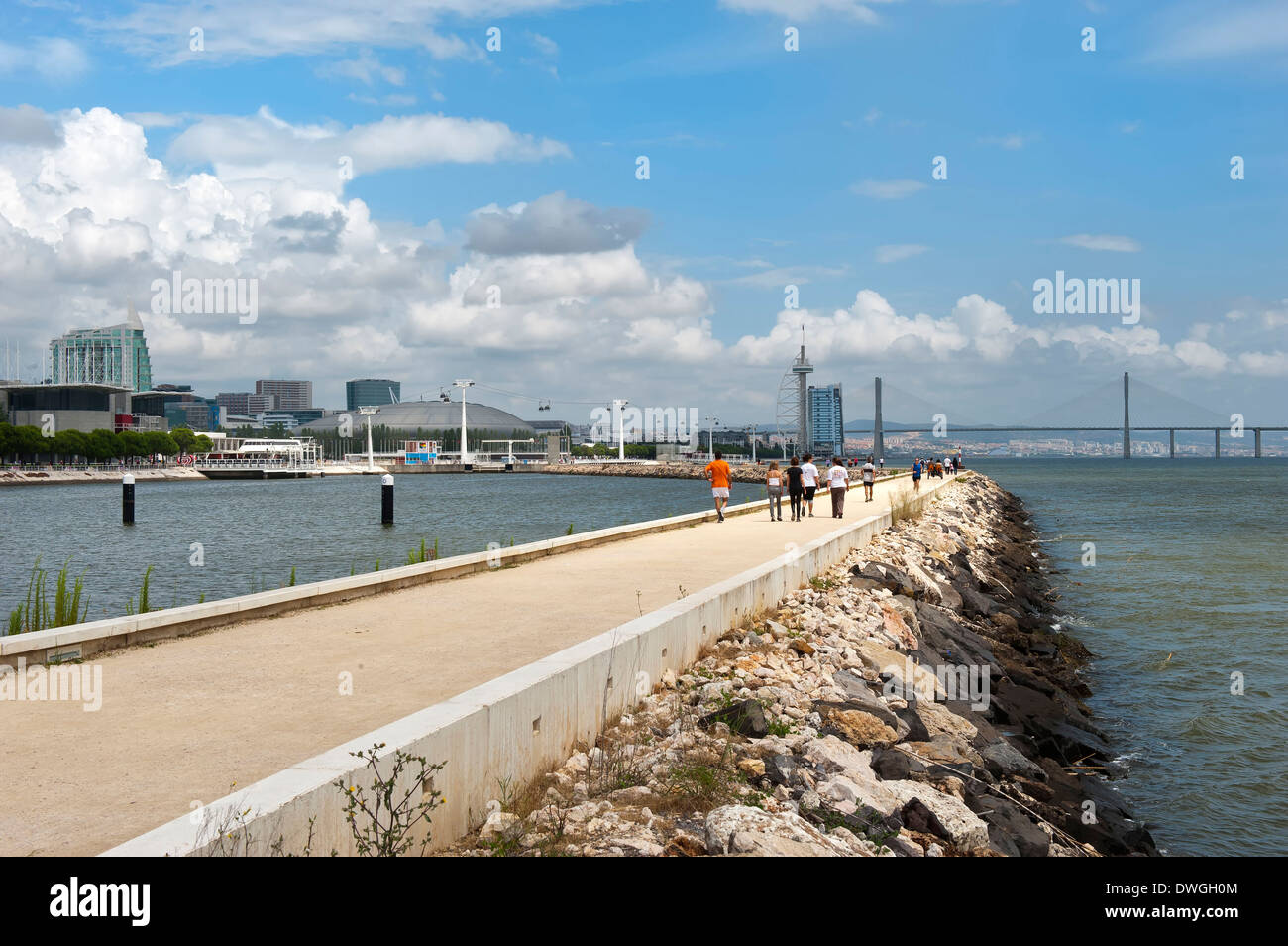 Parque das Nacoes, Lisbon Stock Photo