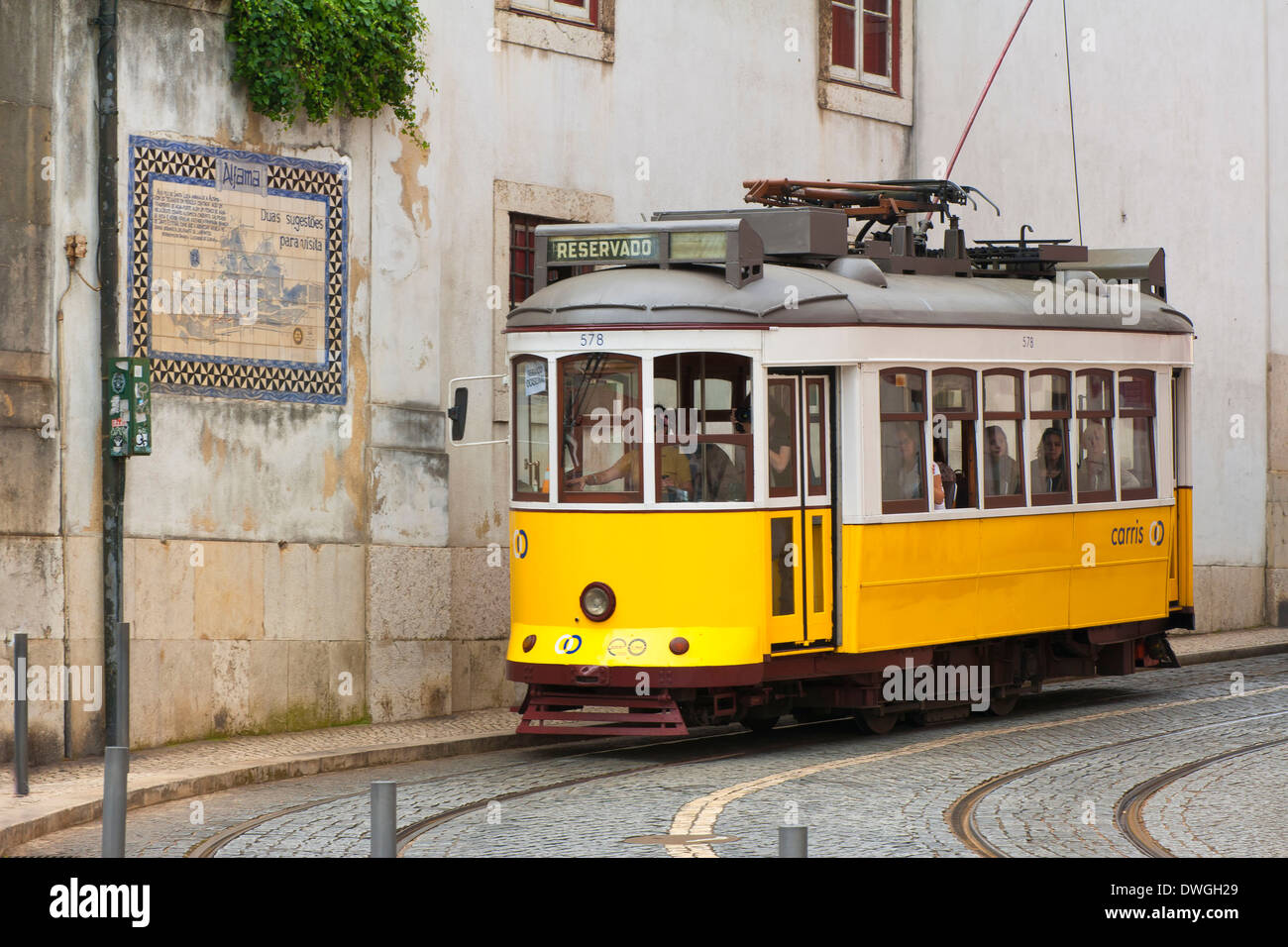 Tram, Alfama District - Stock Image