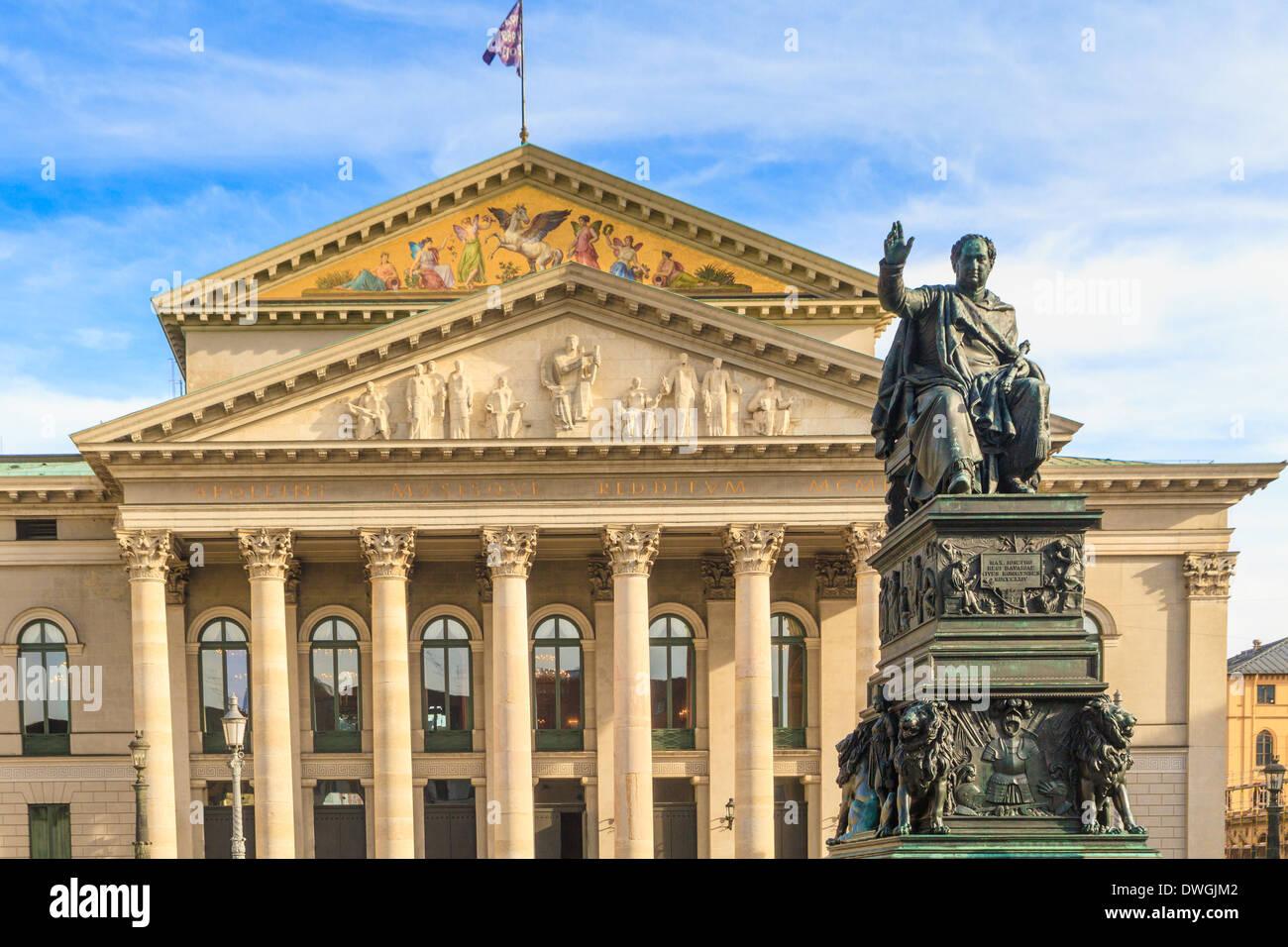 Munich, Bavarian State Opera / Bayerische Staatsoper, Germany - Stock Image