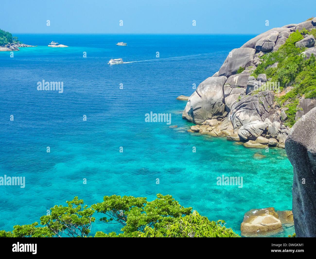 Similan Island Beach View, Koh Eight, Thailand - Stock Image