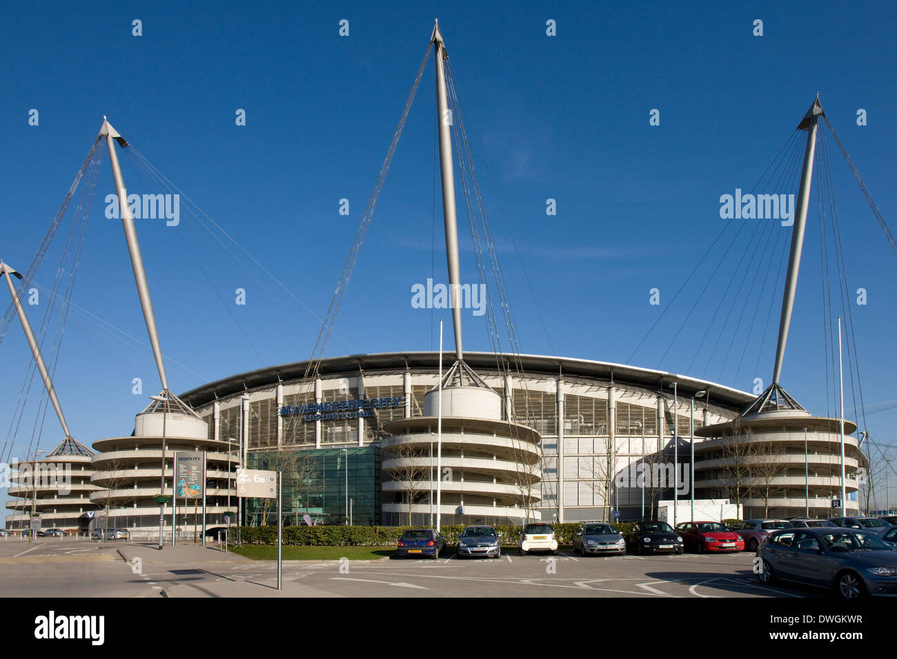 City of Manchester Stadium in Manchester in northwest England Stock Photo