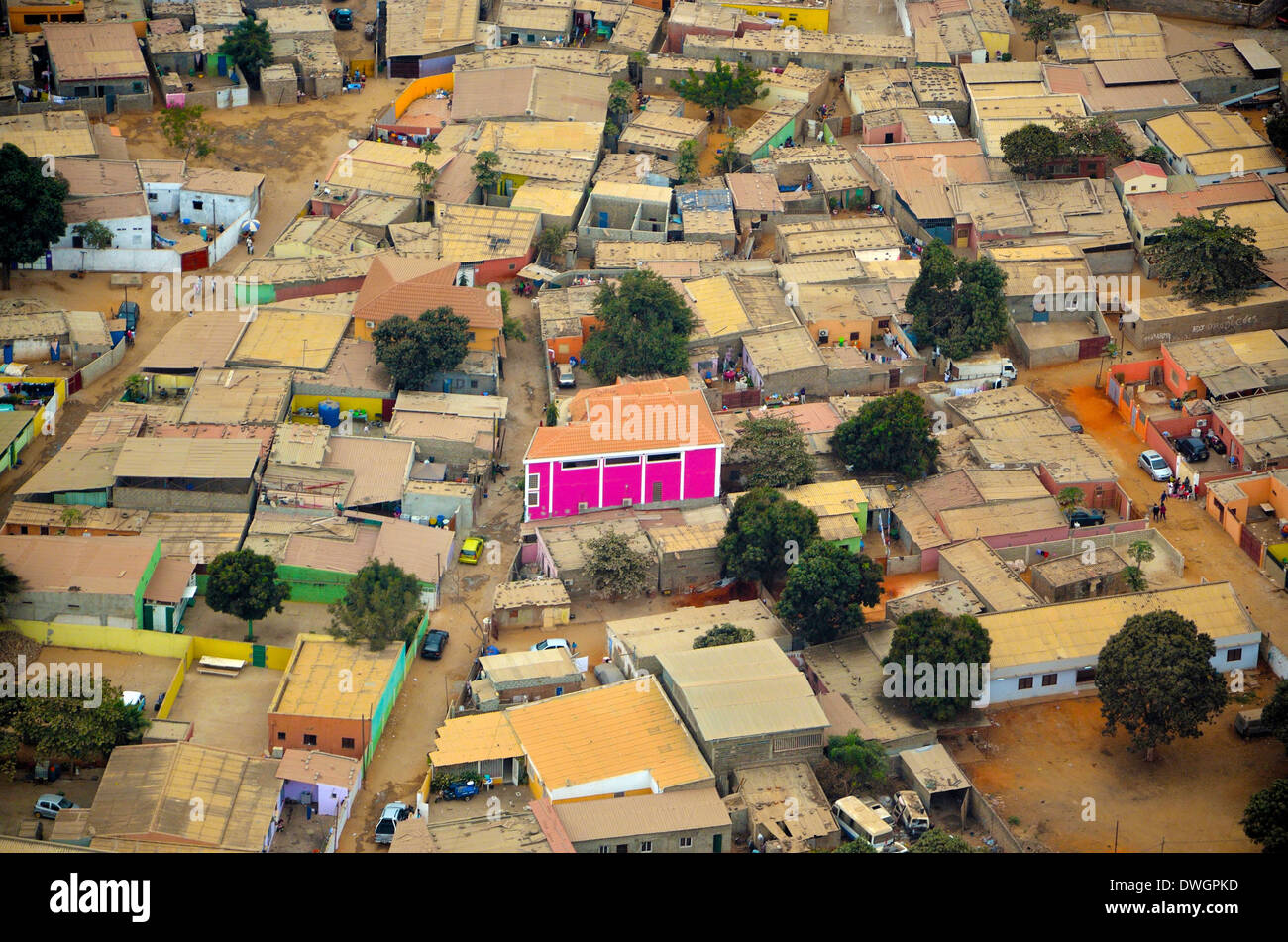 Luanda from the air. Angola, Africa Stock Photo