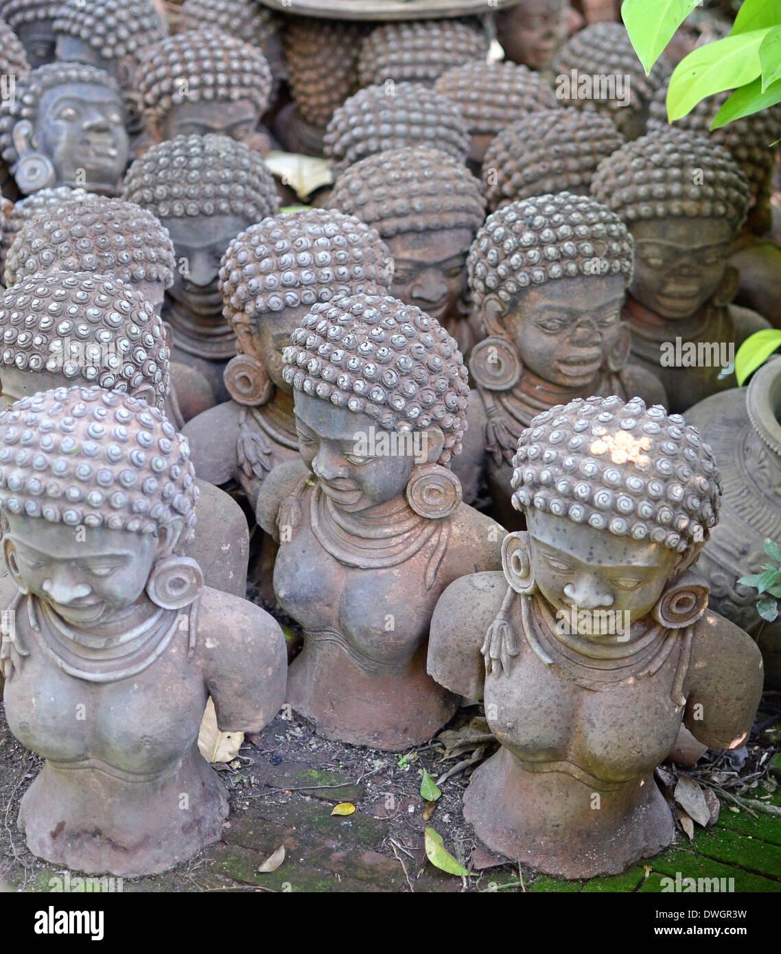 Ancient Sculptures In The Garden Stock Photo 67366877 Alamy