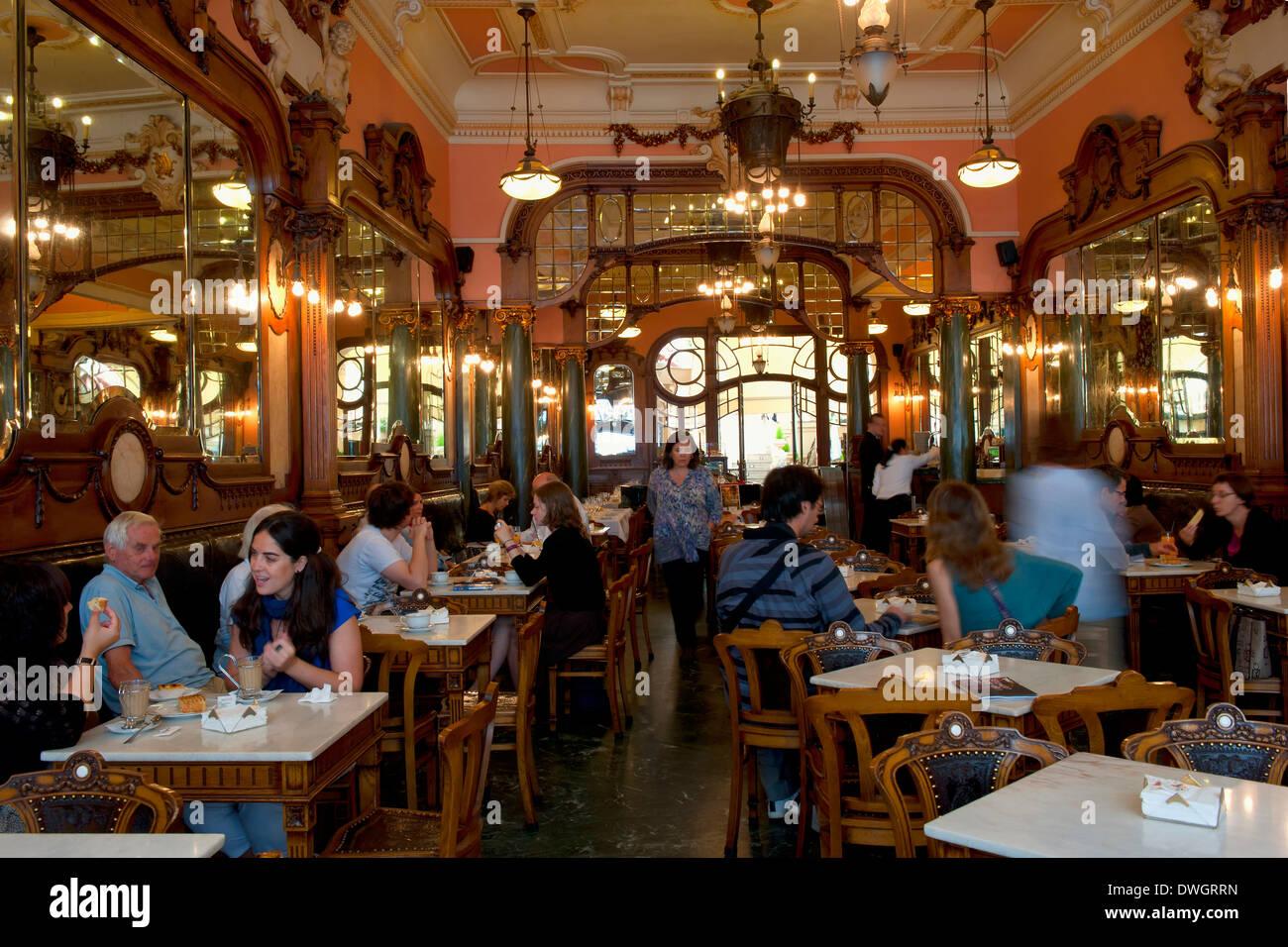 Majestic Cafe, Porto - Stock Image