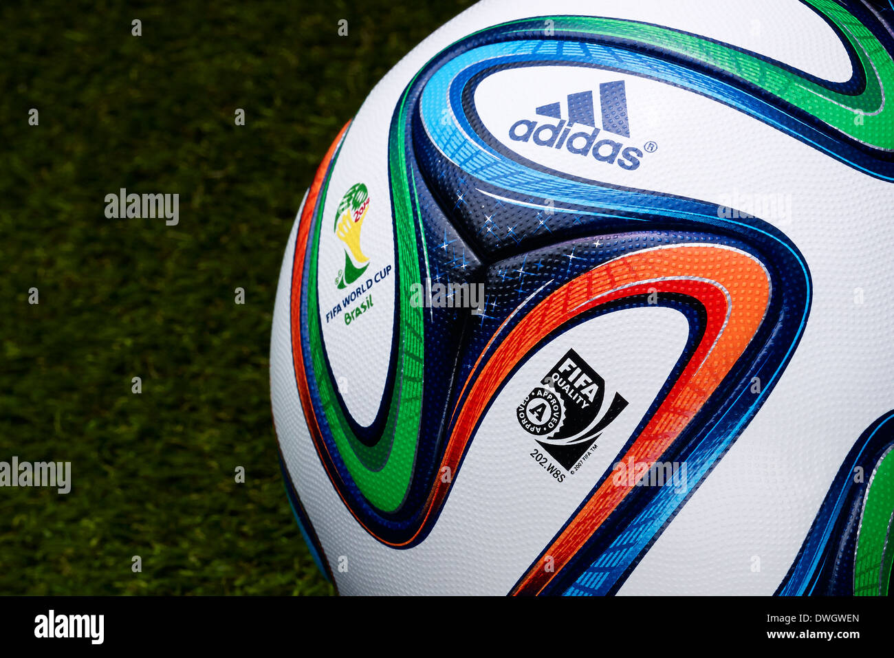 Brazuca, official matchball of FIFA World Cup Brazil 2014 - Stock Image