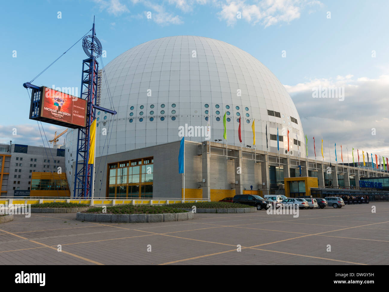 The Ericsson Globe Arena ('Globen'), in Stockholm, Sweden.  The national indoor arena of Sweden, used for ice hockey, concerts. - Stock Image