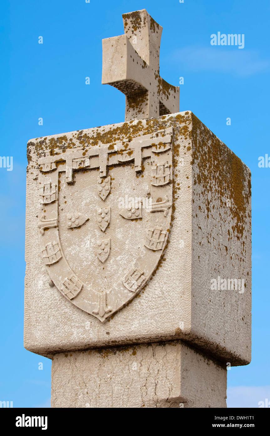 Padrao dos descobrimentos, Fortaleza de Sagres - Stock Image