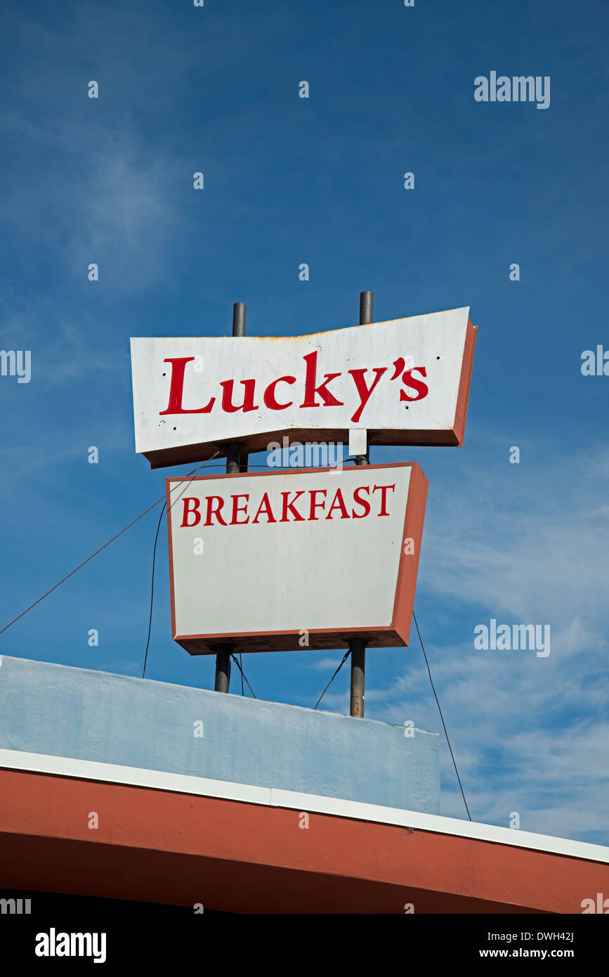 Lucky S Restaurant Sign North Park San Diego California
