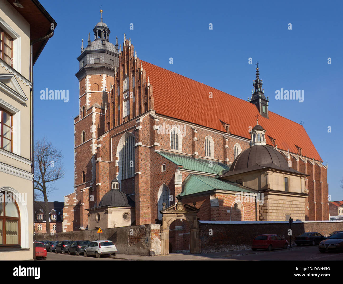 Corpus Christi Church in the Kazimierz district of Krakow in Poland. Dates from 1340. - Stock Image