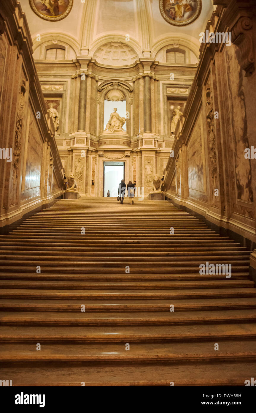inside the Caserta Royal Palace, Italy Stock Photo