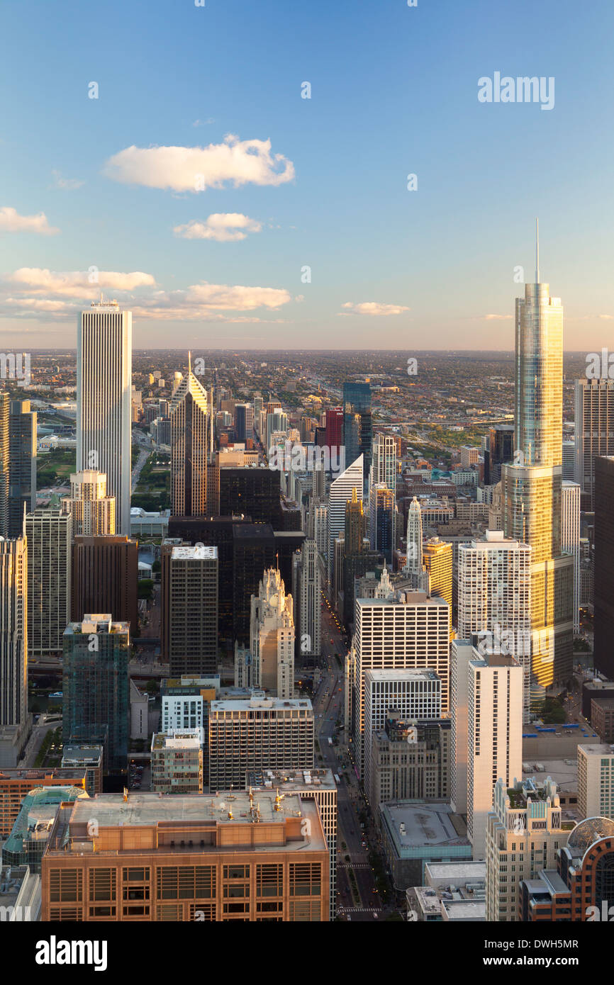 Chicago, Illinois, United States of America, Downtown City Skyline Stock Photo