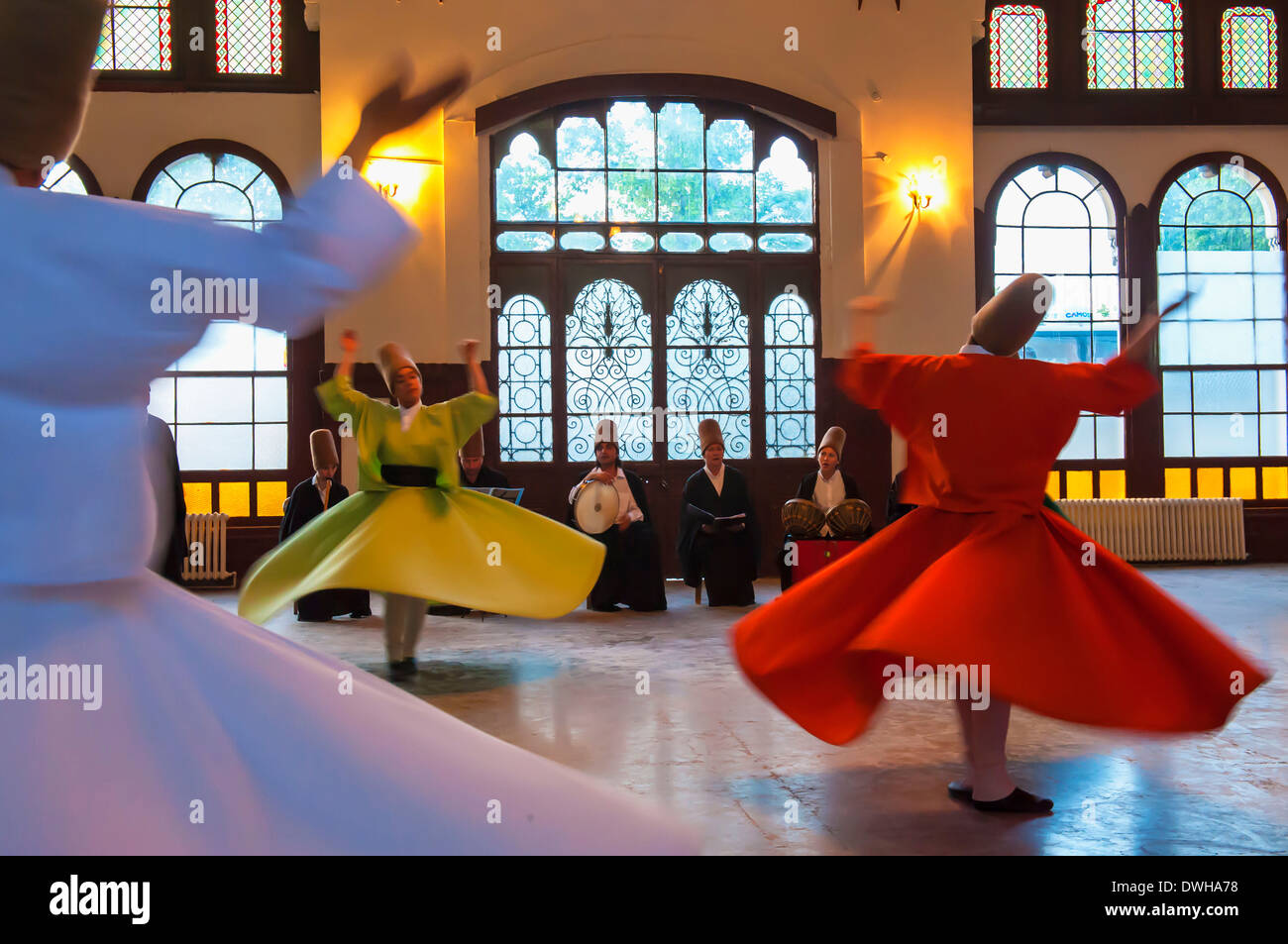 Whirling dervish, Istanbul - Stock Image