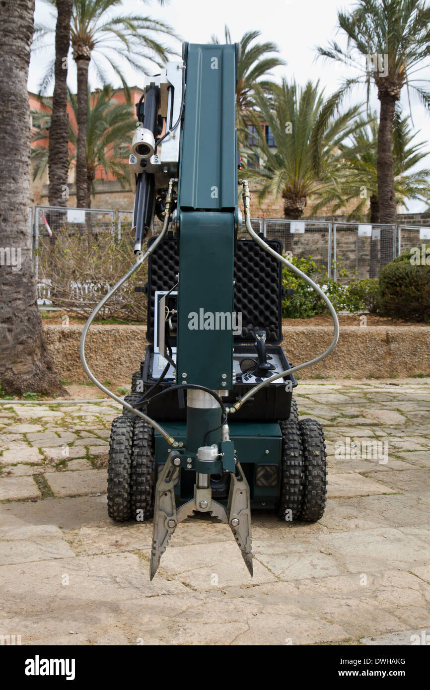 Robot explosive bombs removal unit, Guardia Civil Spain - Stock Image