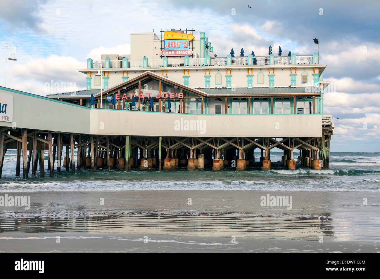 Restaurants And Outside Seating On The Fishing Pier In