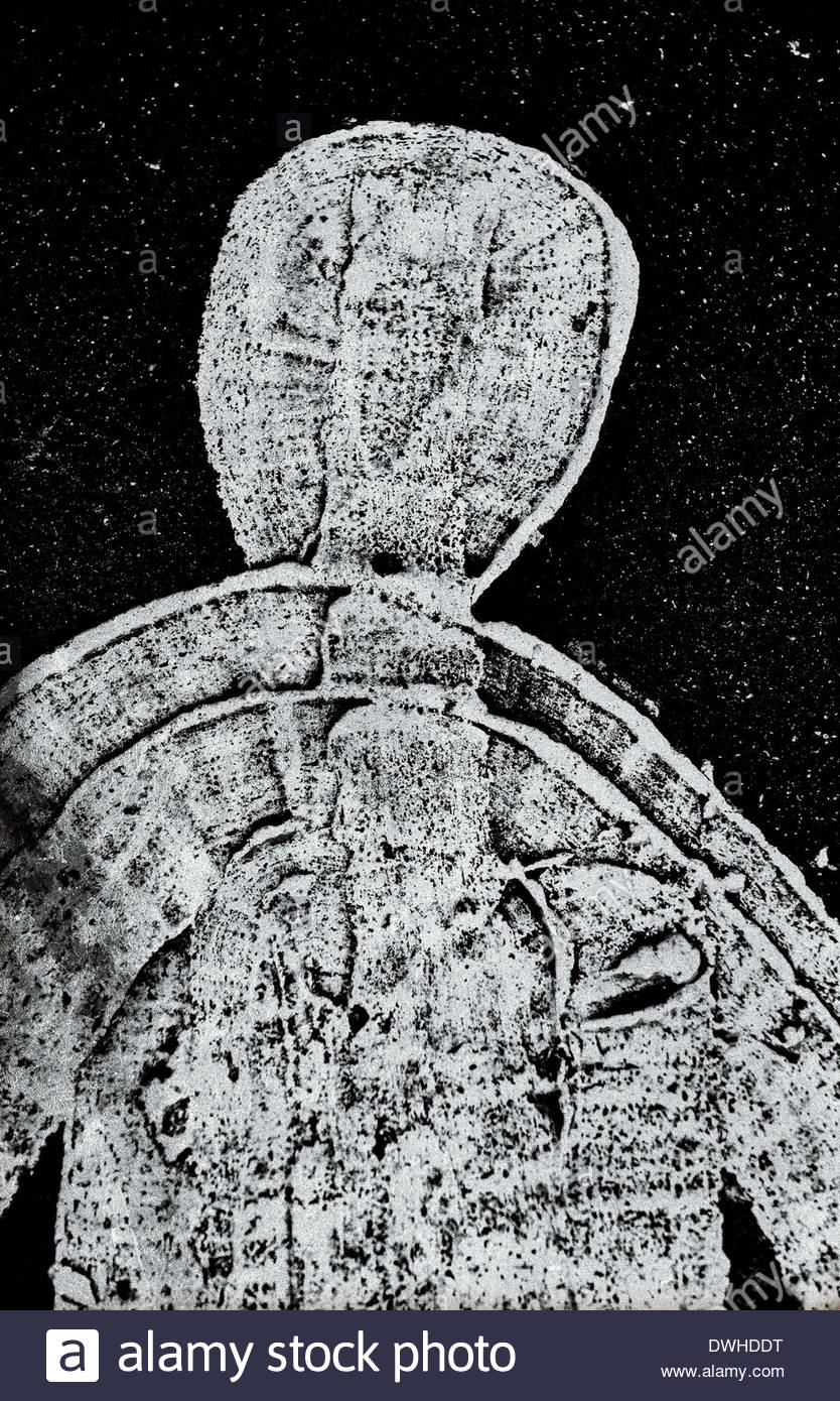 Fragmented detail of a road sign depicting the head of a person, England, United Kingdom. - Stock Image
