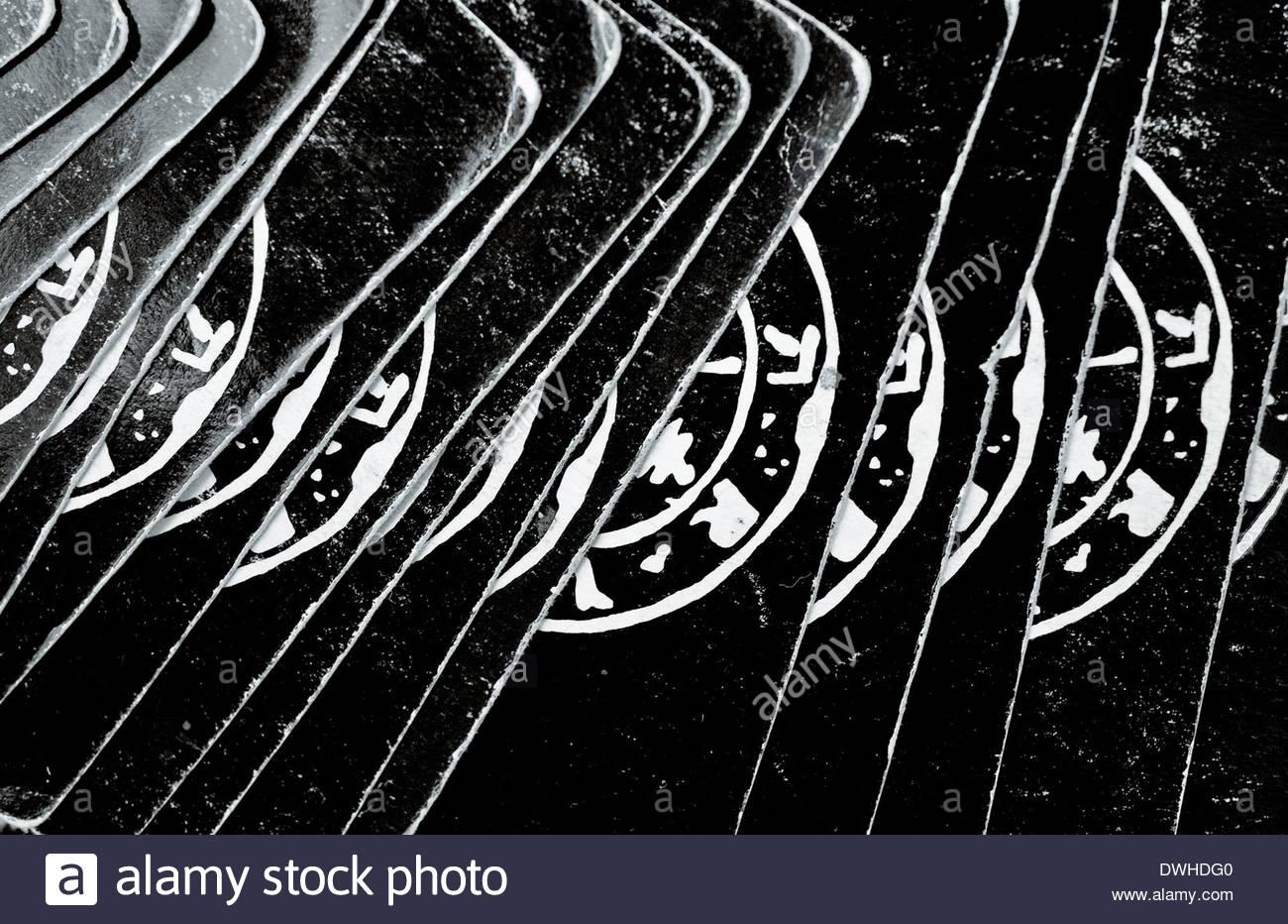 Close up detail of a deck of Tarot cards, Bangkok, Thailand, South East Asia. - Stock Image