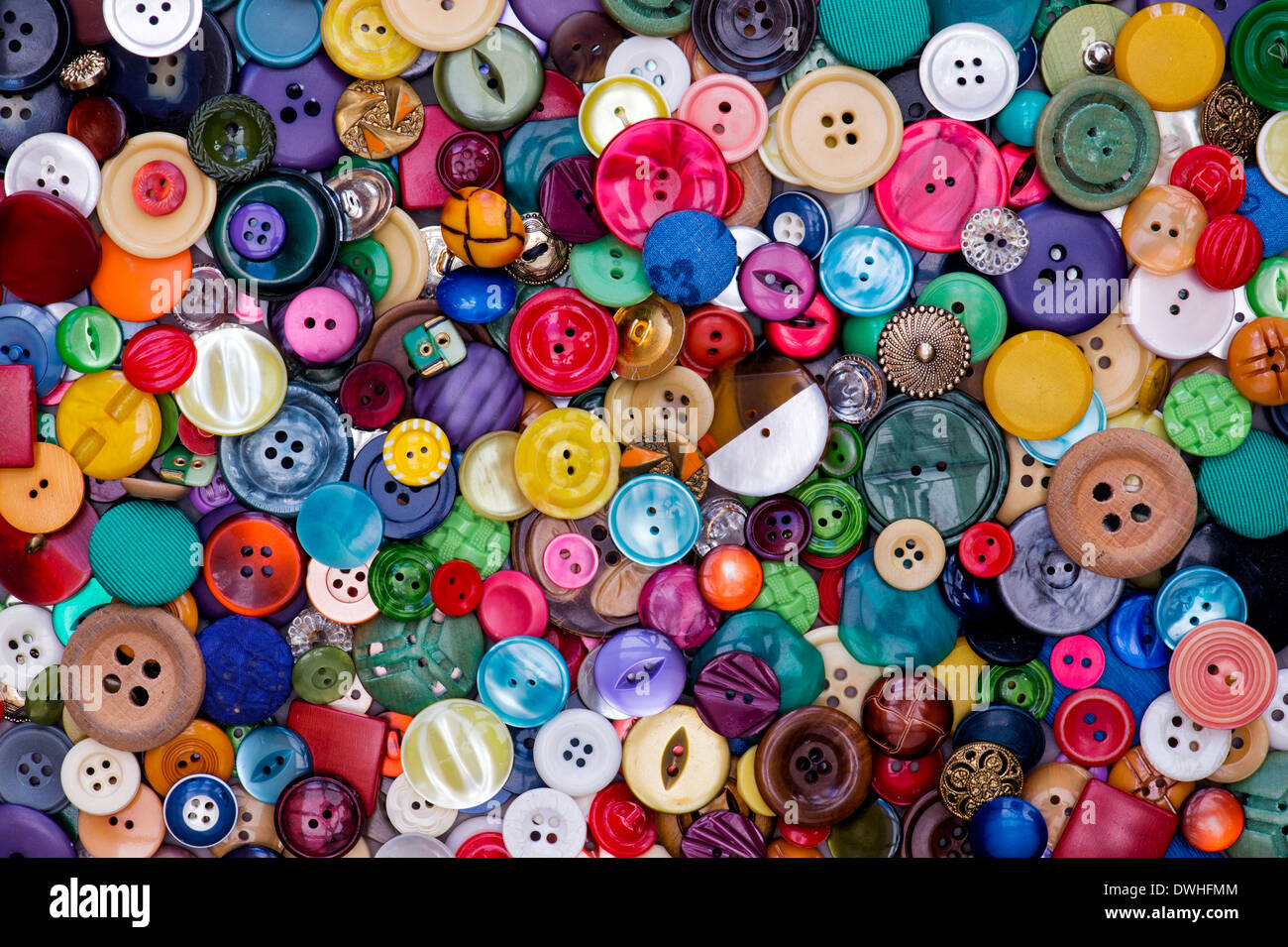 Colourful Buttons Pattern - Stock Image