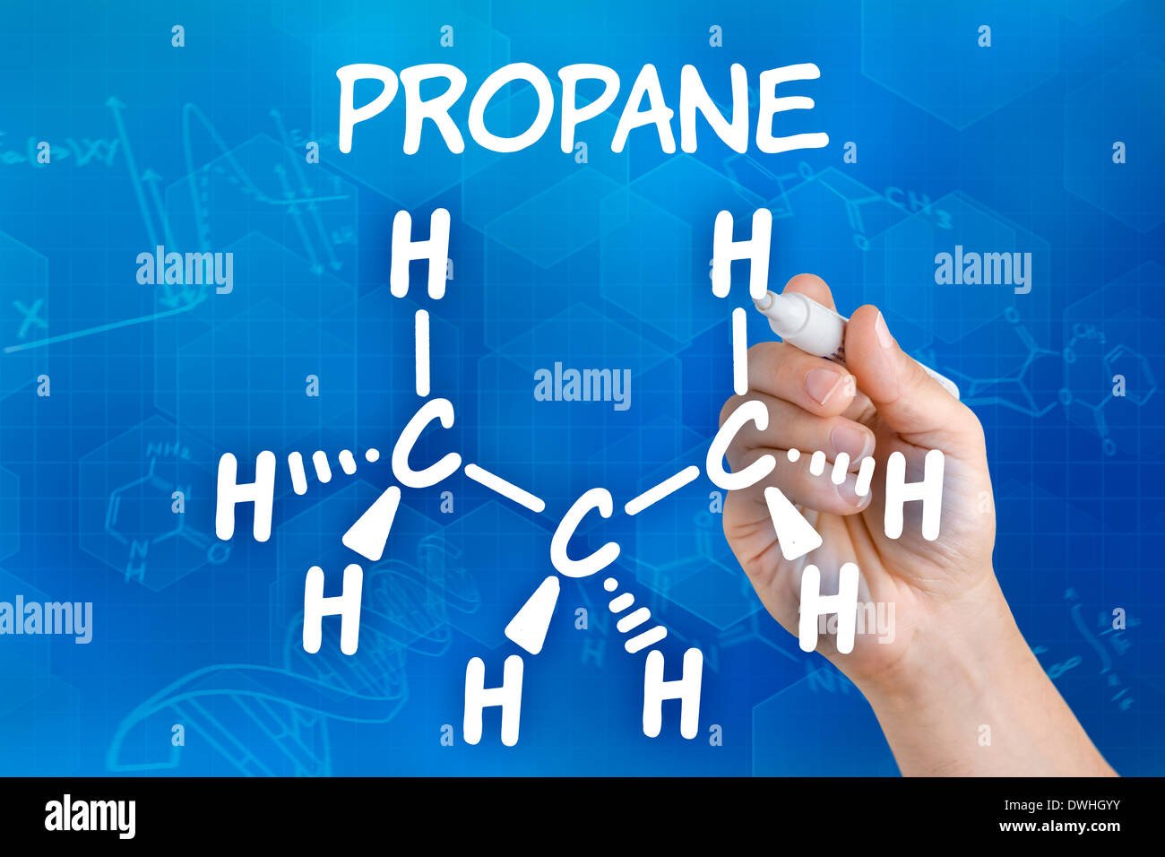 Chemistry Chemical Formula Propane Stock Photos Chemistry Chemical