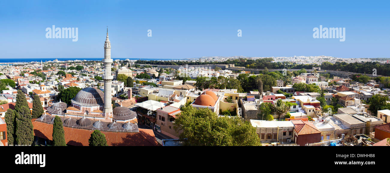 Panorama of Rhodos, Greece - Stock Image
