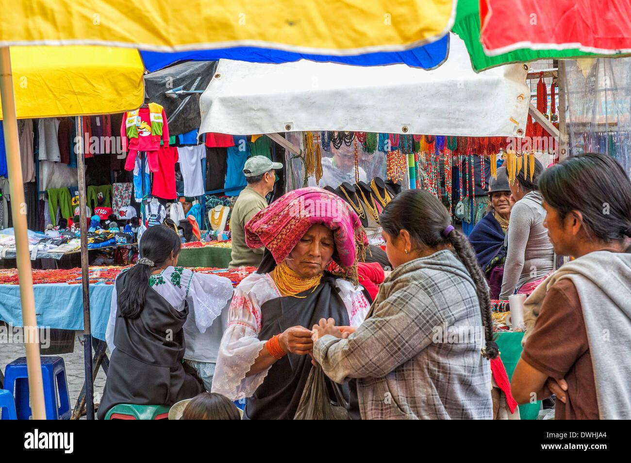 Otavalo market - Stock Image
