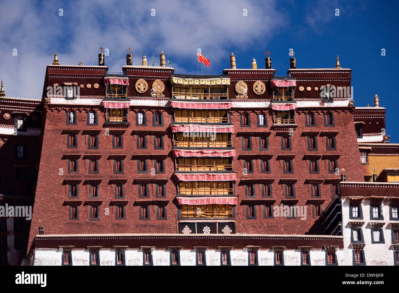 Potala Palace in the city of Lhasa in Tibet (Tibet Autonomous Region of China) - Stock Image