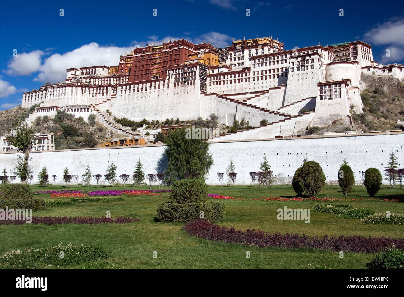 Potala Palace in the city of Lhasa in Tibet - Stock Image