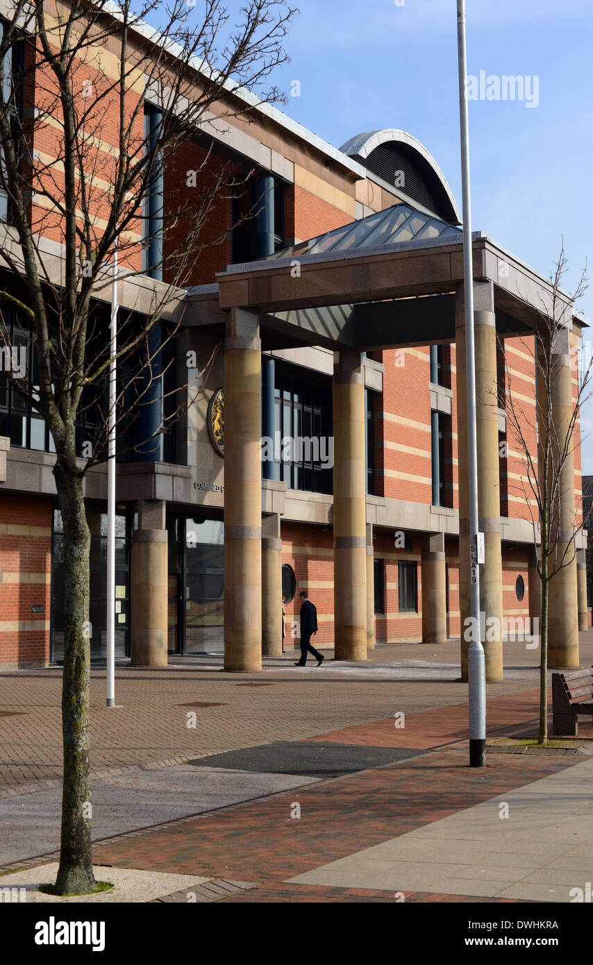 Middlesbrough Combined Law Court, Cleveland, UK - Stock Image