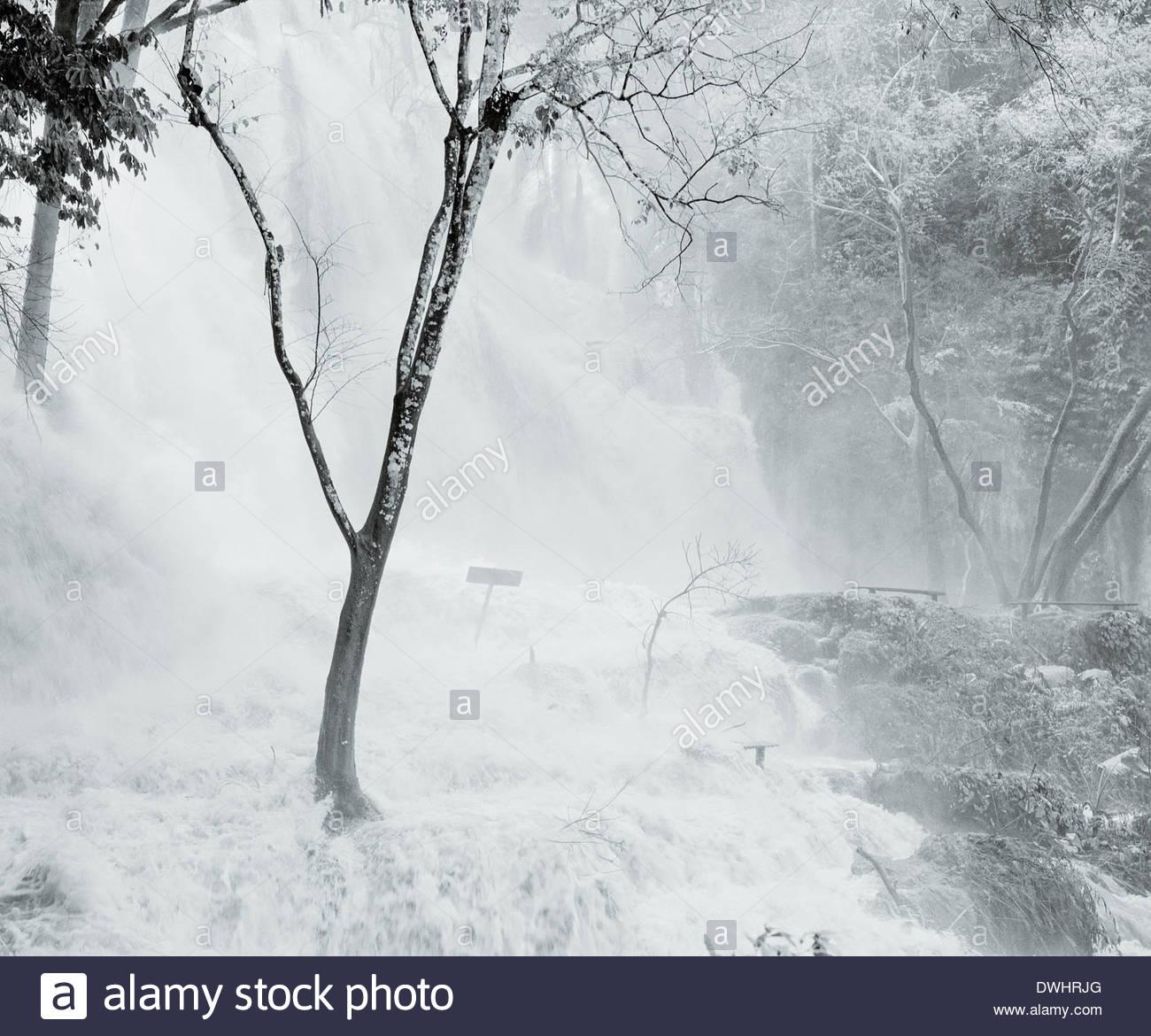 Kuang Xi Falls, Luang Prabang, Laos (LDP), South East Asia. - Stock Image
