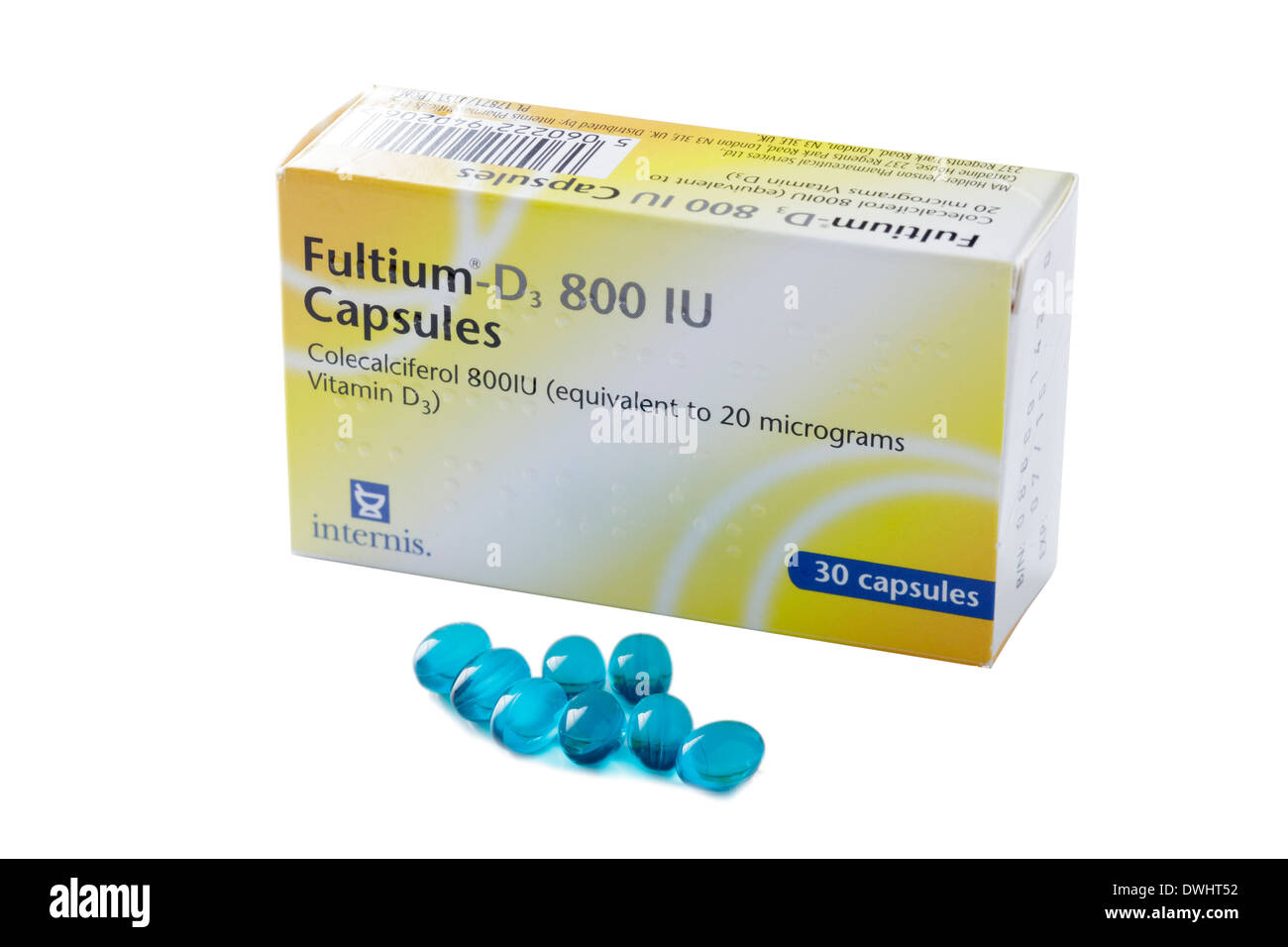 Vitamin D tablets - Stock Image