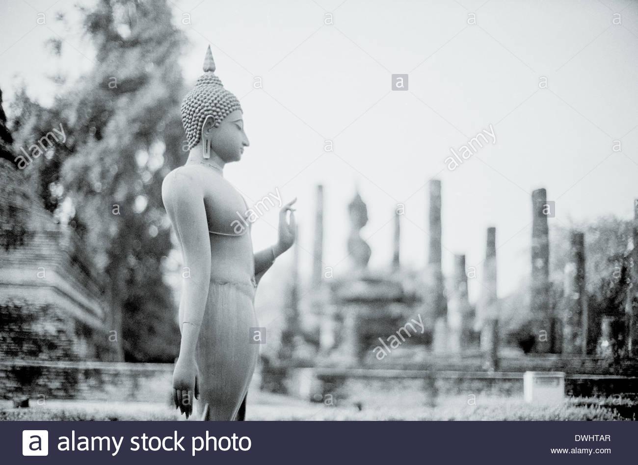 Buddhist statue, Sukhothai, Thailand, South East Asia. - Stock Image