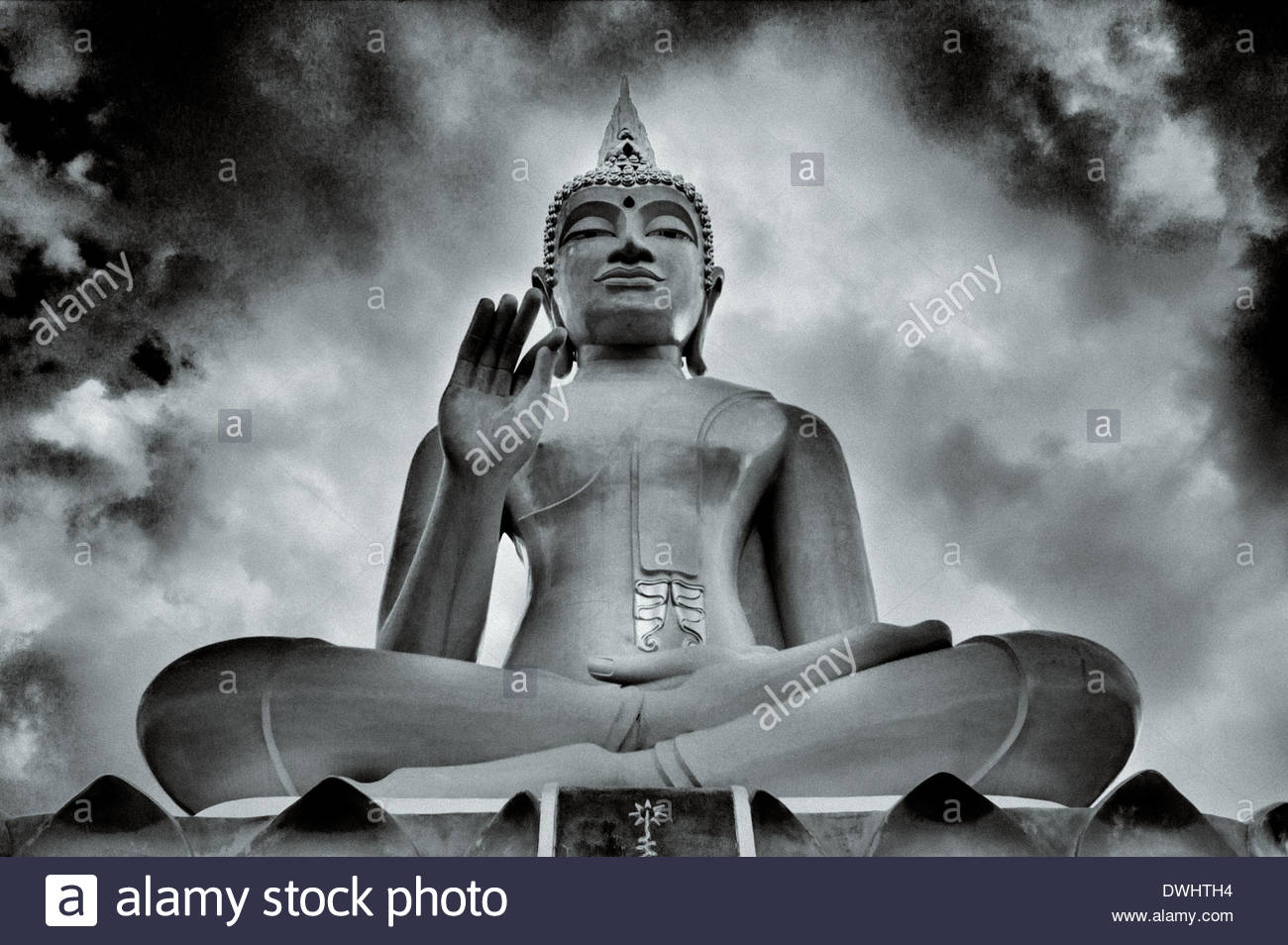 Buddhist statue, Chaiyaphum Province, North East Thailand, South East Asia. - Stock Image