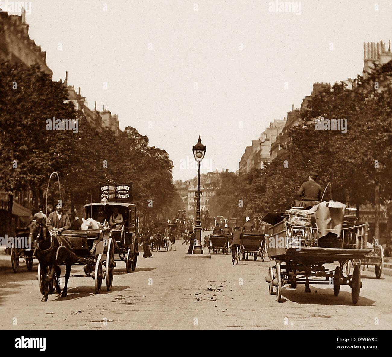 Paris pre-1900 - Stock Image