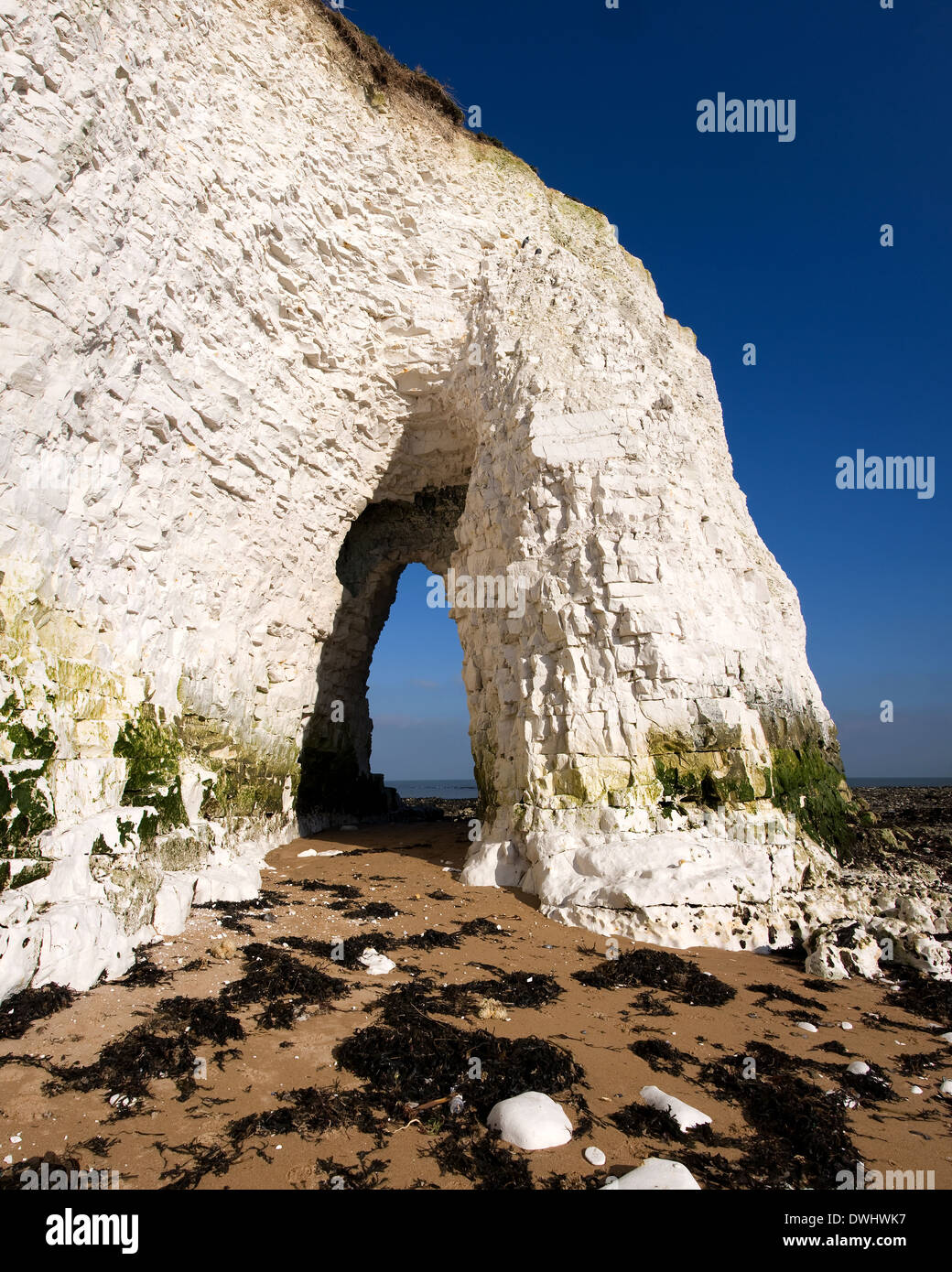 Chalk Arch at Kingsgate Bay in Broadstairs - Stock Image