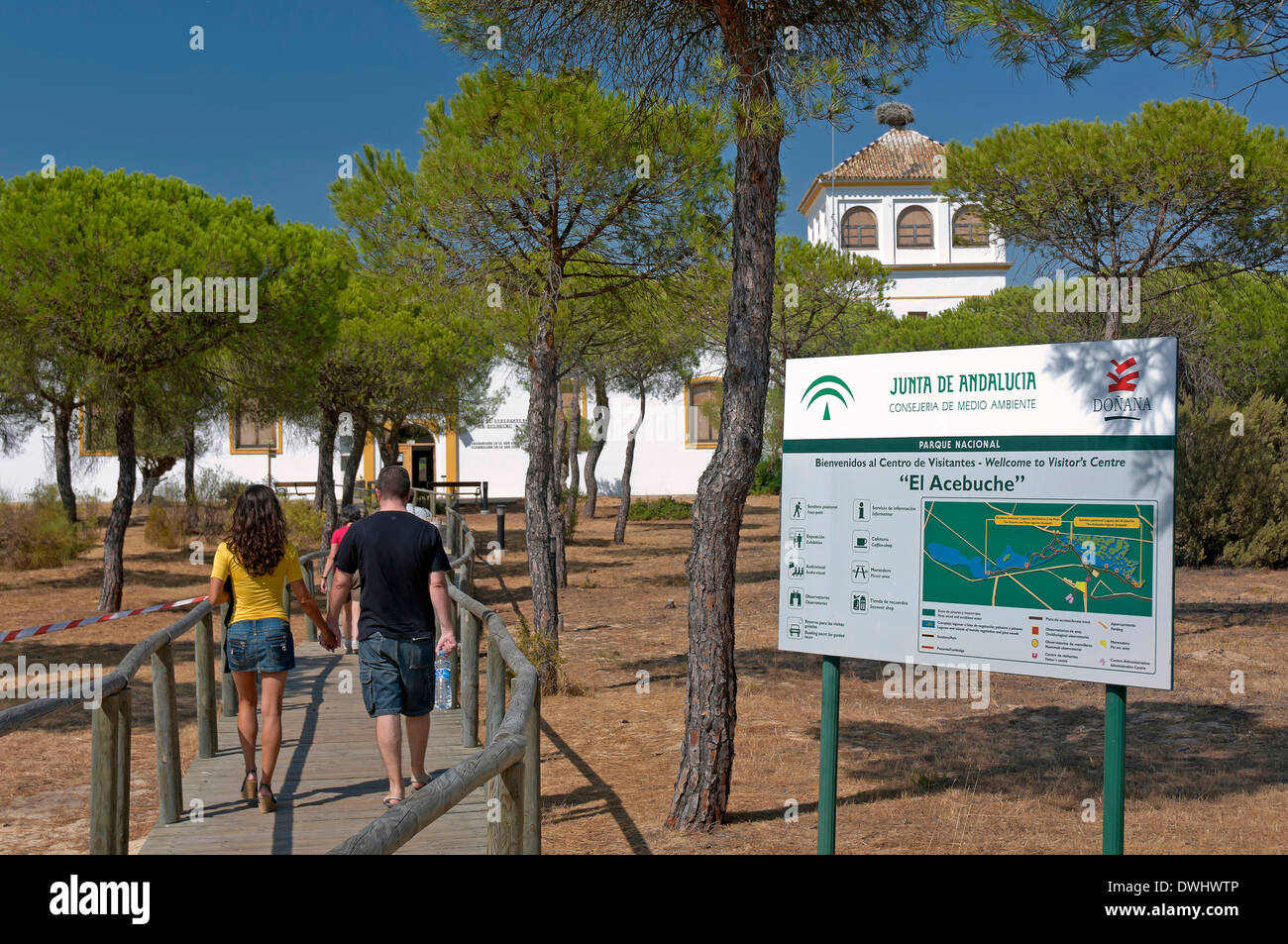 Visitors Center El Acebuche, Donana National Park, Almonte, Huelva province, Region of Andalusia, Spain, Europe Stock Photo