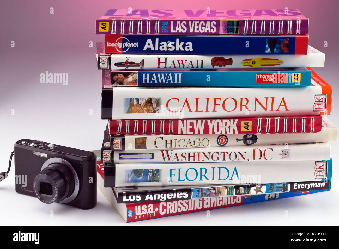 Travel Guides to the greatest destinations in the United States of America. - Stock Image