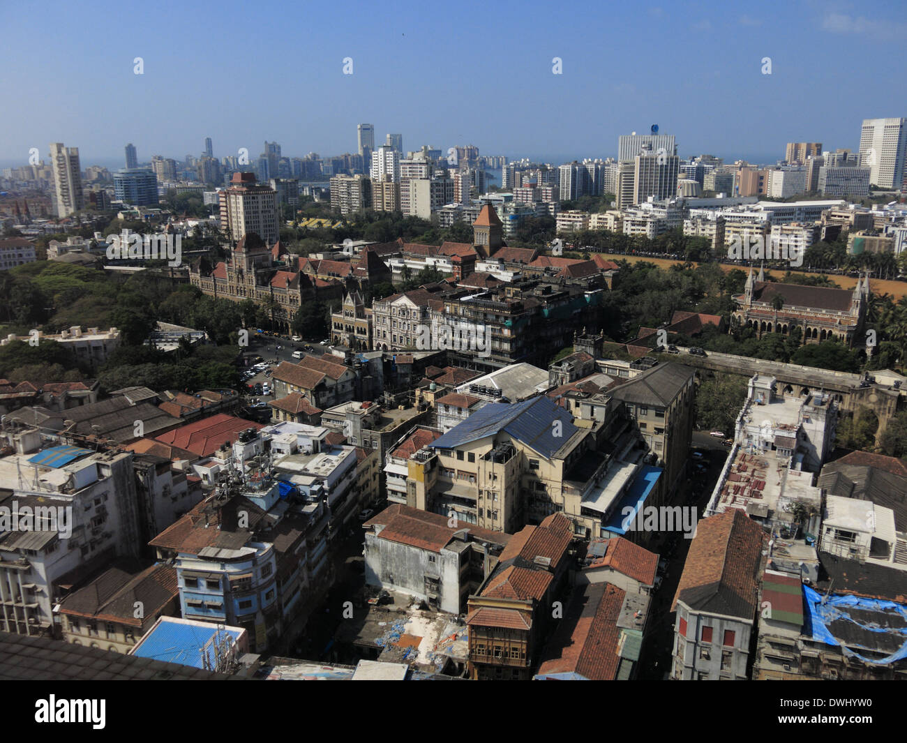 Mumbai skyline, daytime, February 27, 2014 - Stock Image