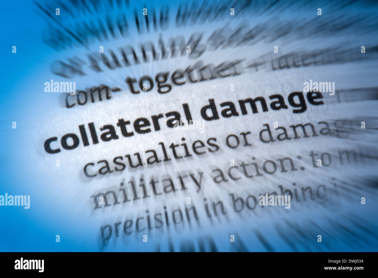 Collateral Damage - Stock Image