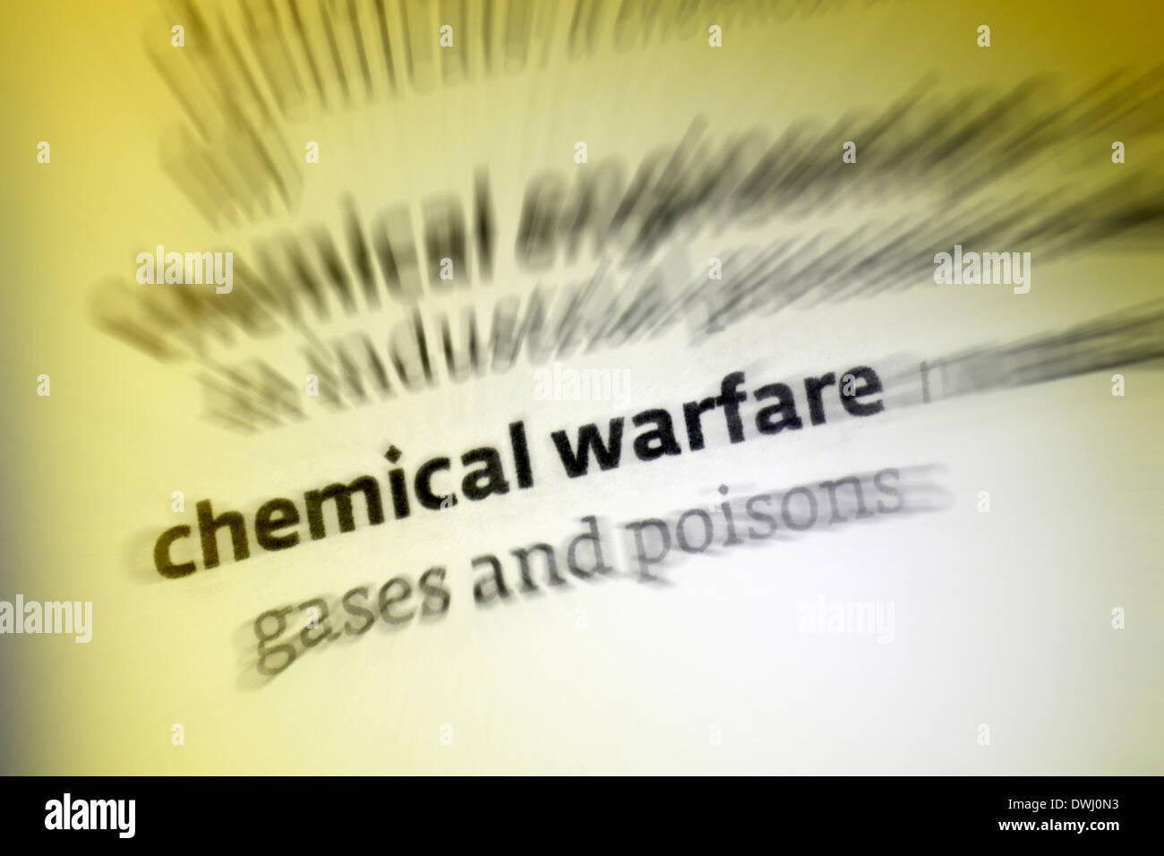 Chemical warfare - Stock Image