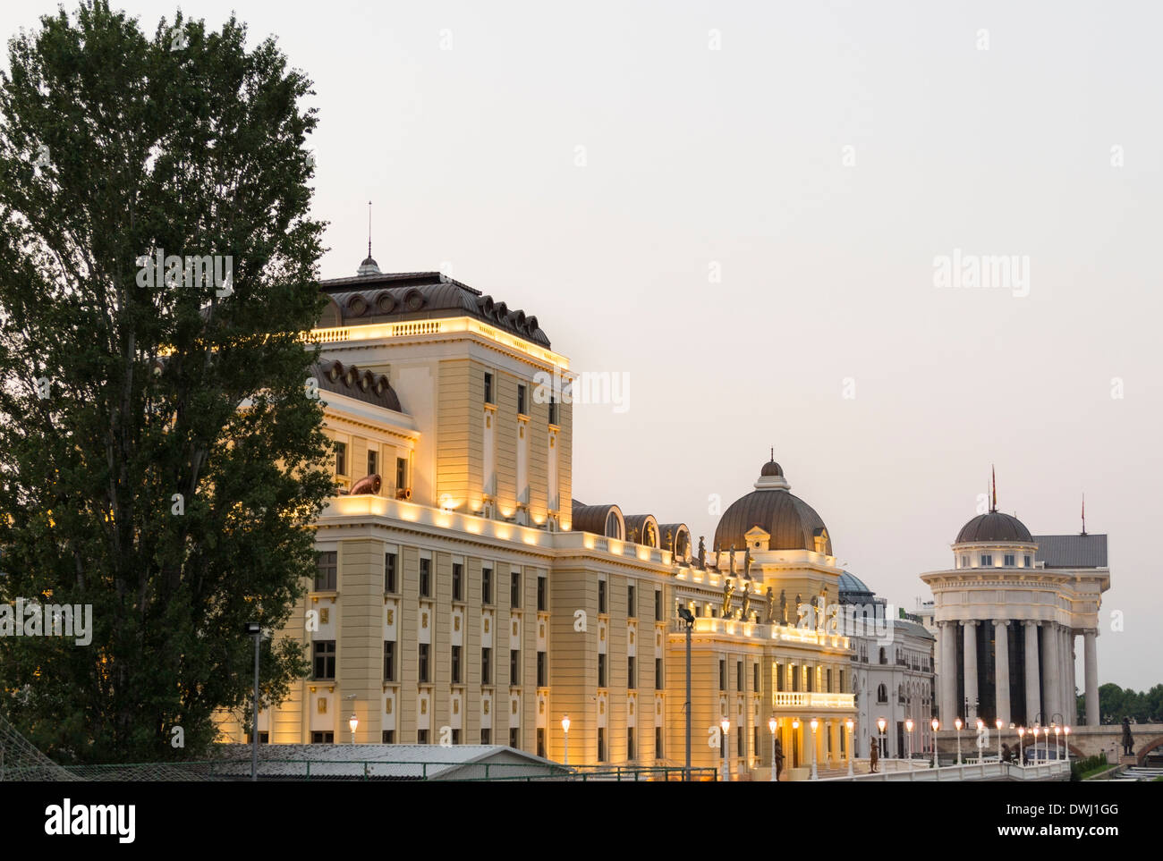 Museum of the Macedonian Struggle, Skopje, Macedonia - Stock Image