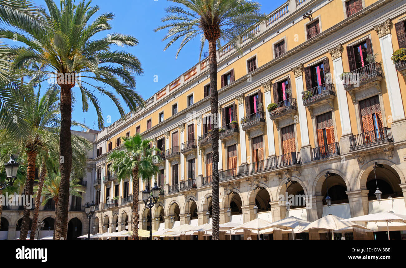 Placa Reial, Barcelona, Spain - Stock Image