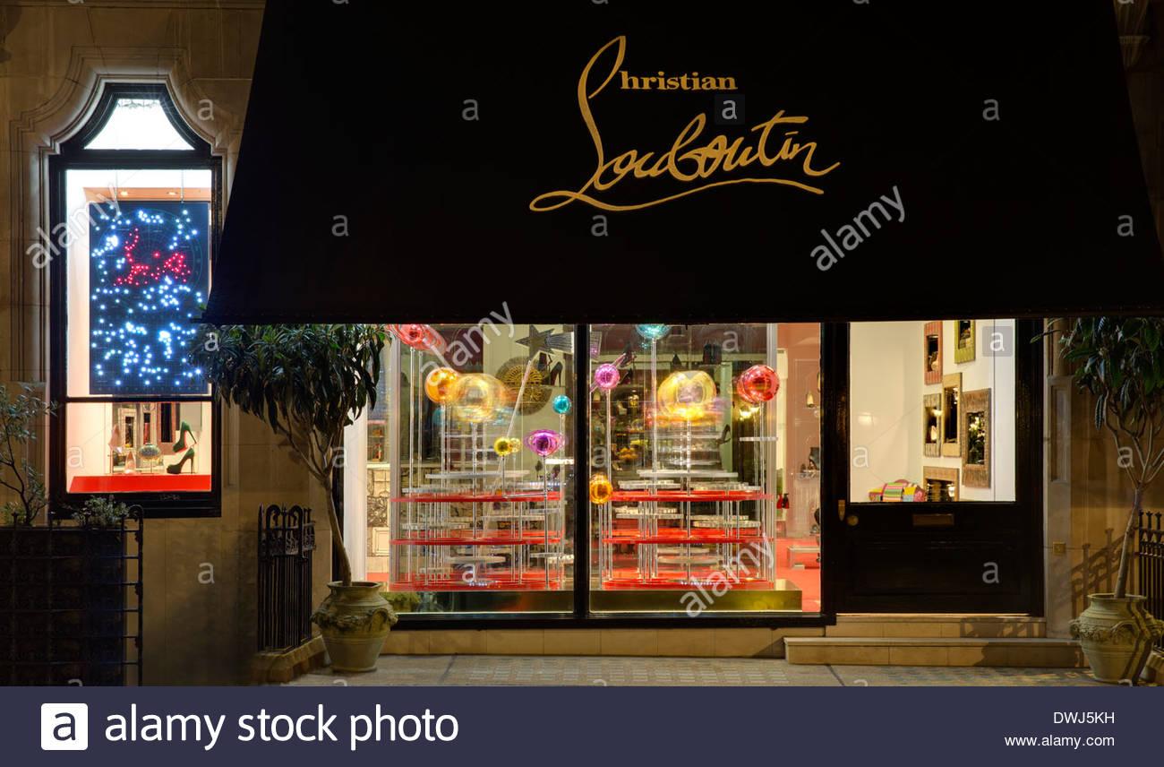 e78b3cc26a6 Christian Louboutin, Motcomb Street, London, United Kingdom Stock ...