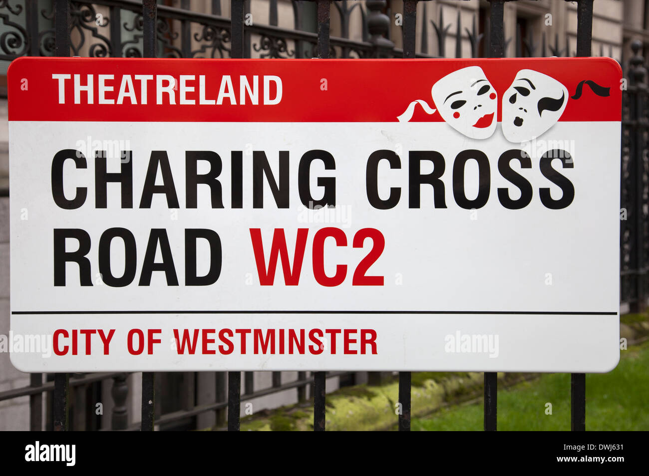 Charing Cross Theatreland WC2 Sign in London UK - Stock Image